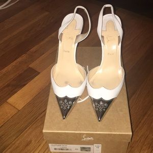 Christian Louboutin Calamijane 100 White Leather